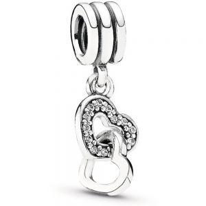 Pandora Interlocking Hearts Dangle Charm 791242CZ