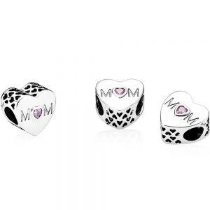 Pandora Pink Mum Heart Charm 791881PCZ