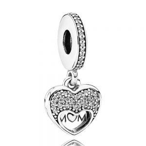 Pandora I Love My Mum Heart Dangle Charm-792071cz