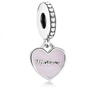 Pandora Mother and Daughter Hearts Dangle Charm