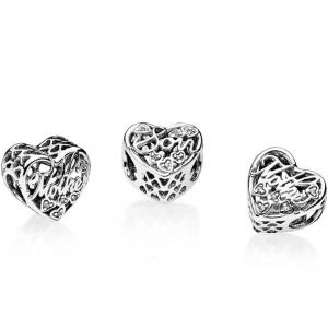 Pandora Mother & Son Script Openwork Charm 792109CZ
