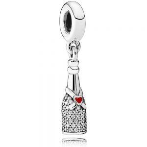 Pandora Sparkling Wine Bottle Dangle Charm 792152CZ