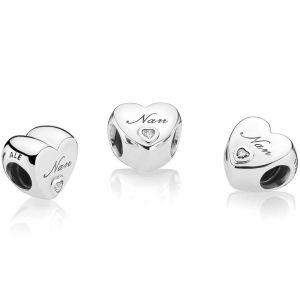 Pandora Polished Nan Heart Charm 797031cz