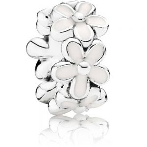 Pandora White Daisy Flower Spacer Charm 791495EN12
