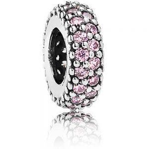 Pandora Pink Sparkle Spacer Charm 791359pcz