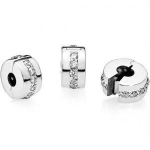 Pandora Clear Sparkling Row Clip Charm
