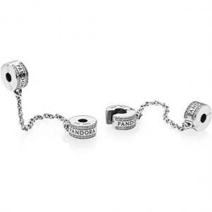 Pandora Logo Saftey Chain Clip Charm