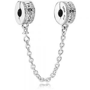 Pandora Logo Safety Chain Clip Charm 792057cz-05