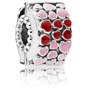 Pandora Red and Pink Hearts Charm-796594enmx