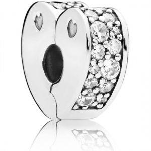 Pandora Clear Pave Heart Clip Charm