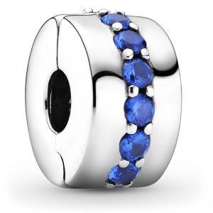 Pandora Blue Sparkle Clip Charm 791972c01