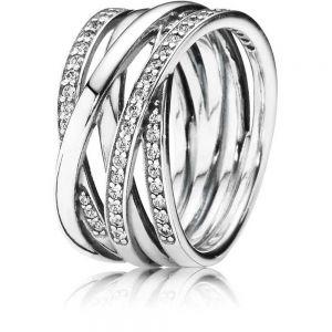 Pandora Sparkling & Polished Lines Ring 190919CZ