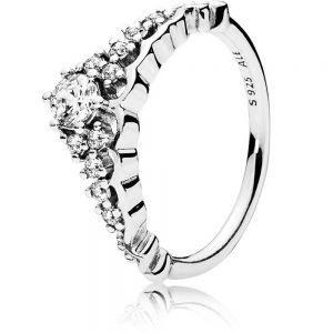Pandora Fairy Tale Tiara Wishbone Ring 196226CZ
