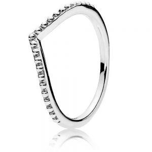 Pandora Beaded Wishbone Ring 196315