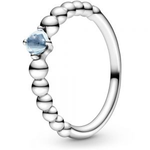 Pandora March Birthstone Beaded Ring 198867C01