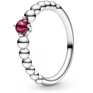 Pandora July Birthstone Beaded Ring 198867C02