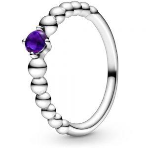 Pandora February Birthstone Beaded Ring 198867C03