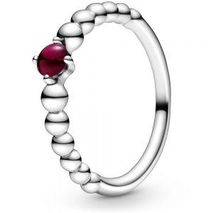 Pandora January Birthstone Beaded Ring 198867C08