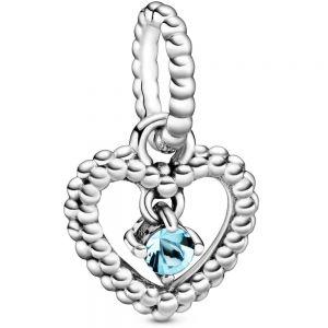 Pandora March Birthstone Heart Dangle Charm 798854C01