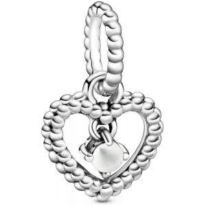 Pandora April Birthstone Heart Dangle Charm  798854C04