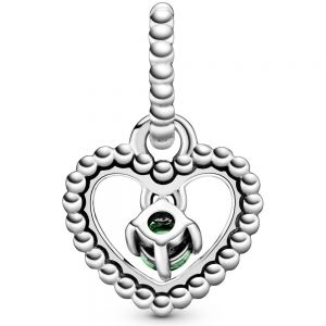 Pandora August Birthstone Heart Dangle Charm 798854C10