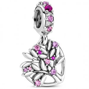 Pandora Pink Heart Tree Dangle Charm