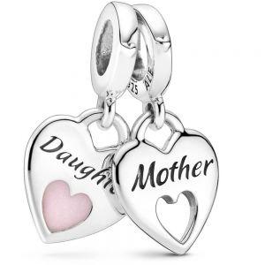 Pandora Double Heart Split Dangle Charm 799187C01
