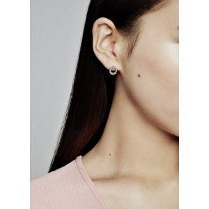 Pandora Beaded Circle Stud Earings-298683c00