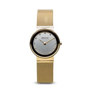 Bering Ladies Classic Polished Gold Watch - Medium