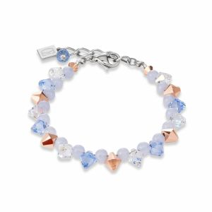 Coeur de Lion Chalzedony Light Blue Necklace 4988/10-0720