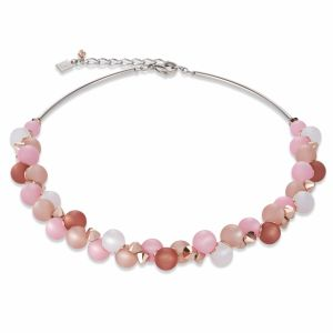 Coeur de Lion Polaris and Swarovski Crystal Necklace Pink