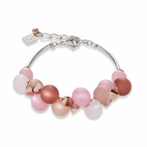 Coeur de Lion Polaris and Swarovski Crystal Necklace Pink 4994/10-1910