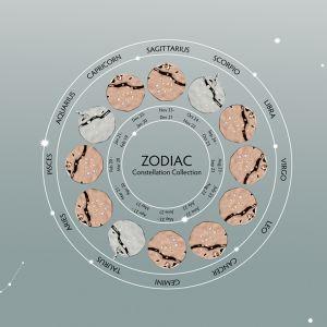 Unique & Co Zodiac Constellation Pendant - Gemini Rose Gold MK-620RG