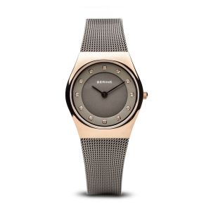 Bering Ladies Classic Watch - Grey and Rose Gold 11927-369