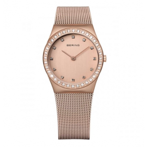 Bering Ladies Rose Gold Swarovski Set Watch 12430-366