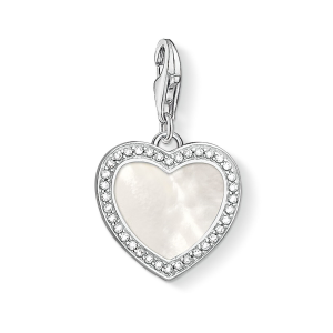 Thomas Sabo Charm Pendant - Mother of Pearl Sparkling Heart 1472-030-14