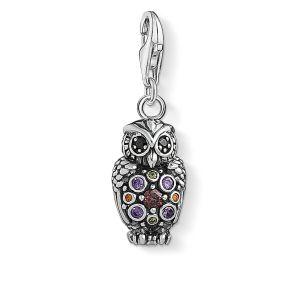 Thomas Sabo Charm Pendant - Sparkling Owl