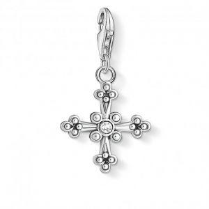 Thomas Sabo Charm Pendant - Intricate Silver Cross