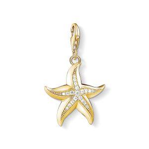 Thomas Sabo Charm Pendant - Gold and Zirconia Starfish 1526-414-14