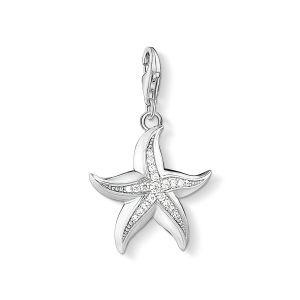 Thomas Sabo Charm Pendant - Silver and Zirconia Starfish 1528-051-14