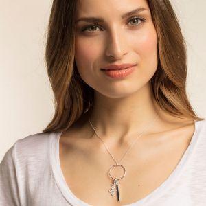 Thomas Sabo Charm Pendant - Silver and Zirconia Small Love Knot 1563-051-14