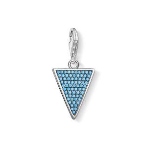 Thomas Sabo Charm Pendant - Turquoise Stones Triangle