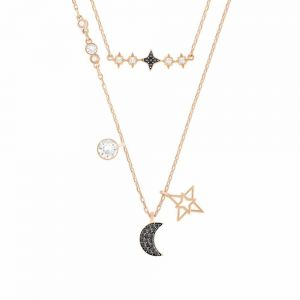 Swarovski Symbolic Moon Necklace Set - Multicoloured - Mixed Metal Finish 5273290