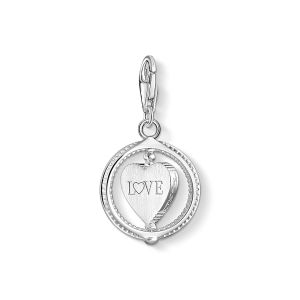 Thomas Sabo Charm Pendant - Pave Heart in Silver