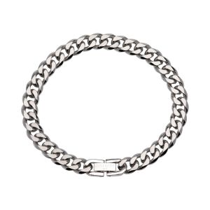 Unique and Co Mens Stainless Steel Bracelet Matte and Polished
