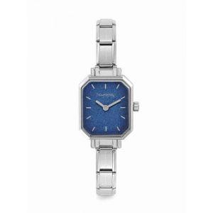 Nomination Paris Blue Glitter Rectangular Dial Charm Watch 076030_024