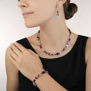 Coeur De Lion Multicolour Purple-Red-Blue GeoCUBE Necklace 2838100841