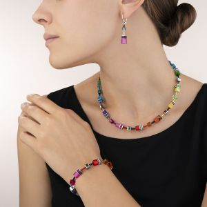 Coeur De Lion Pink GeoCUBE Earrings 2838201520