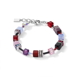 Coeur De Lion GeoCUBE Bracelet - Purple Red Blue