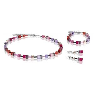 Coeur De Lion Mulitcolour Red Rose GEOCUBE Bracelet